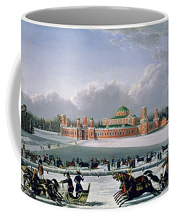 Sleigh Race At The Petrovsky Park In Moscow Coffee Mug