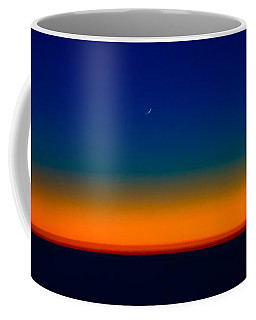 Coffee Mug featuring the photograph Slice Of Moon In The Night Sky by Don Schwartz