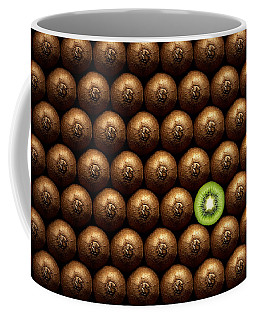 Sliced Kiwi Between Group Coffee Mug