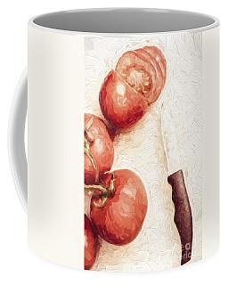 Sliced Tomatoes. Vintage Cooking Artwork Coffee Mug