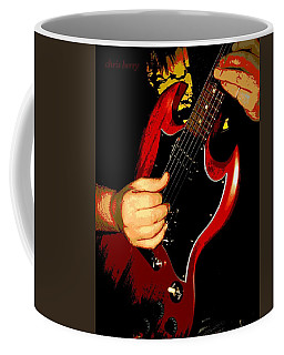 Red Gibson Guitar Coffee Mug