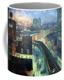 Sloan's The City From Greenwich Village Coffee Mug by Cora Wandel
