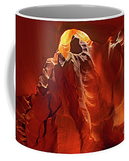 Coffee Mug featuring the photograph Slot Canyon Formations In Upper Antelope Canyon Arizona by Dave Welling