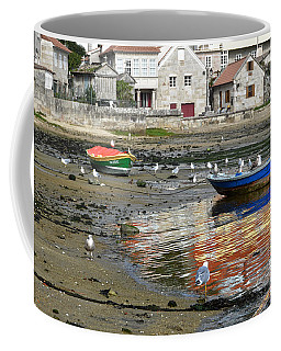 Small Boats And Seagulls In Galicia Coffee Mug