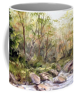 Small Falls In The Forest Coffee Mug by Dorothy Maier