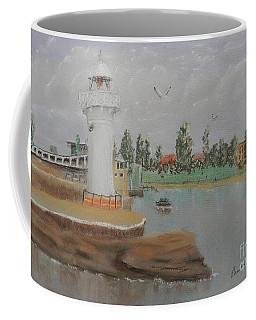 Small Lighthouse At Wollongong Harbour Coffee Mug