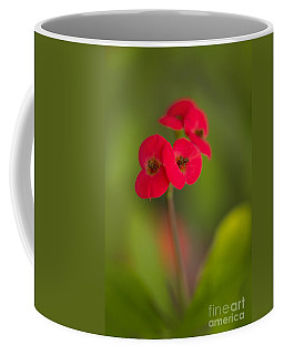 Small Red Flowers With Blurry Background Coffee Mug