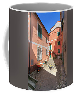 small square in Camogli Coffee Mug by Antonio Scarpi