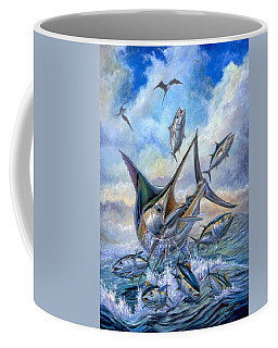 Small Tuna And Blue Marlin Jumping Coffee Mug