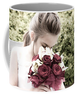 Smelling The Roses Coffee Mug by Sabine Edrissi