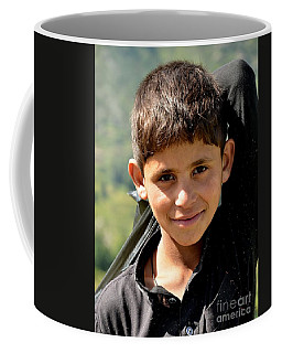 Coffee Mug featuring the photograph Smiling Boy In The Swat Valley - Pakistan by Imran Ahmed