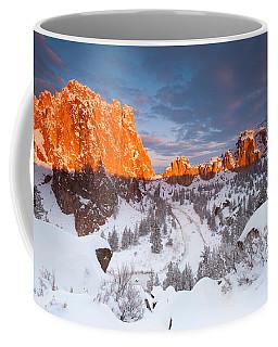 Smith Rock Snow Storm Coffee Mug