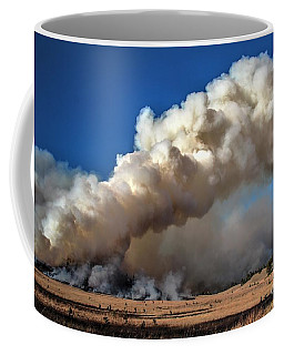 Smoke Column From The Norbeck Prescribed Fire. Coffee Mug