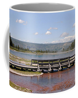 Coffee Mug featuring the photograph Smoke On The Water by Mary Carol Story