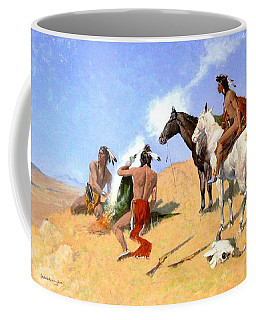 Coffee Mug featuring the painting Smoke Signals by Pg Reproductions