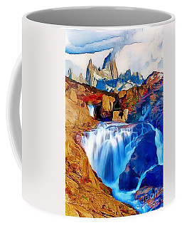Coffee Mug featuring the painting Smokey Mountain View by Catherine Lott