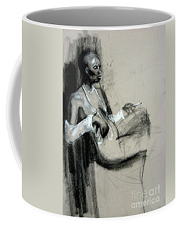 Coffee Mug featuring the drawing Smoking by Gabrielle Wilson-Sealy