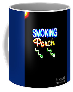 Smoking Porch In High Contrast Coffee Mug
