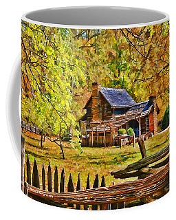 Coffee Mug featuring the photograph Smoky Mountain Homestead by Kenny Francis