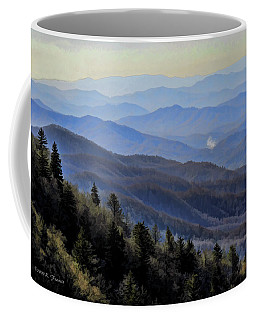 Coffee Mug featuring the photograph Smoky Vista by Kenny Francis