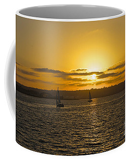 Smooth Sailing Coffee Mug by Claudia Ellis