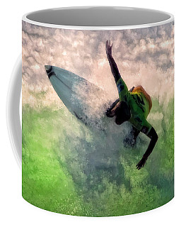 Coffee Mug featuring the painting Snap Turn by Michael Pickett