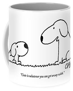 Dog Talks To Puppy About Being Cute Coffee Mug