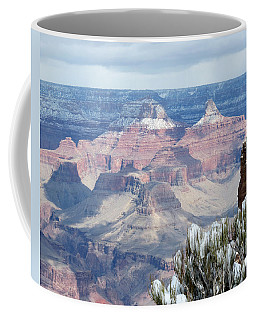 Snow At The Grand Canyon Coffee Mug by Laurel Powell