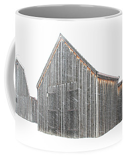 Coffee Mug featuring the photograph Snow Barns by Christopher McKenzie