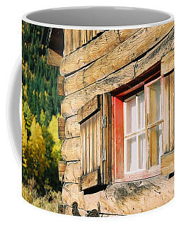 Snow Cabin Window Coffee Mug