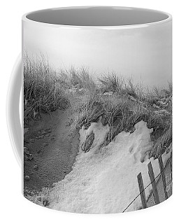 Snow Covered Sand Dunes Coffee Mug
