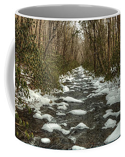 Snow Dots The Waters Of The Great Smoky Mountains National Park  Coffee Mug