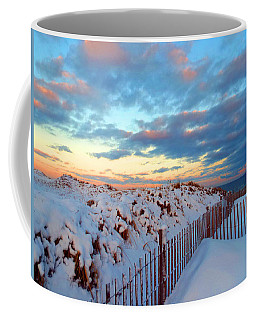 Snow Dunes At Sunrise Coffee Mug