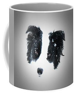 Coffee Mug featuring the digital art Snow Face by Aliceann Carlton