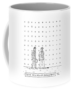Snow Falling On Accountants -- Two Men Walk Coffee Mug