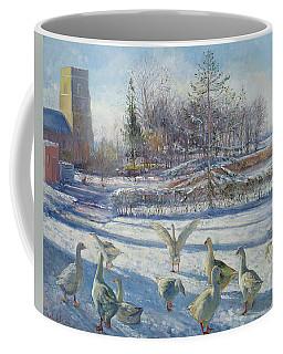 Snow Geese, Winter Morning Coffee Mug