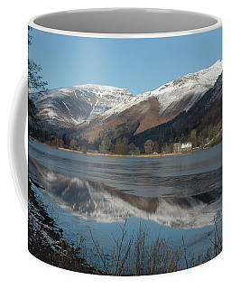 Snow Lake Reflections Coffee Mug