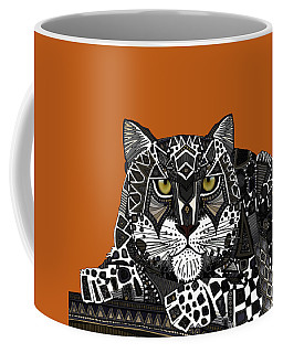 Snow Leopard Orange Coffee Mug