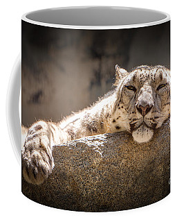 Snow Leopard Relaxing Coffee Mug