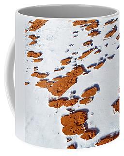 Snow On Dunes Coffee Mug