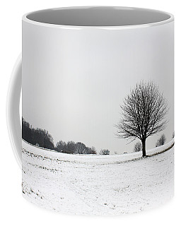 Snow On Epsom Downs Surrey England Uk Coffee Mug