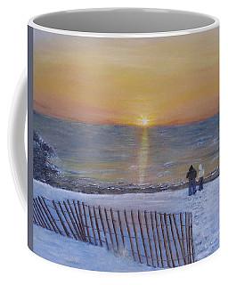 Snow On The Beach Coffee Mug