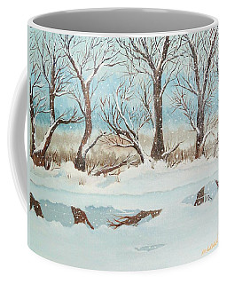 Snow On The Ema River 2 Coffee Mug