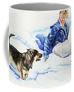 Snow Play Sadie And Andrew Coffee Mug
