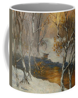 Snow Sunset Paintings Coffee Mug