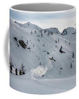 Snowboarder Jumping Off A Kicker Coffee Mug