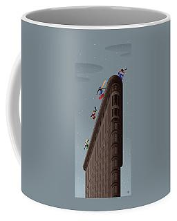 Snowboarders Fly Off The Flatiron Halfpipe Coffee Mug