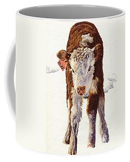 Country Life Winter Baby Calf Coffee Mug
