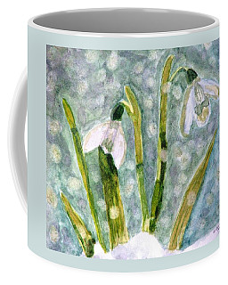 Snowdrops A Promise Of Spring Coffee Mug by Angela Davies