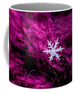 Snowflake On Magenta Coffee Mug